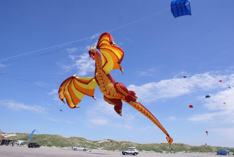 En rigtig drage på Fanø Dragefestival